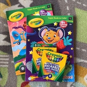 Space Airplan Coloring Book & Crayon Bundle